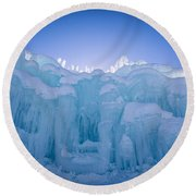 Ice Castle Round Beach Towel