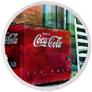 Ice Cold Coca Cola Round Beach Towel