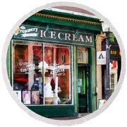 Alexandria Va - Ice Cream Parlor Round Beach Towel