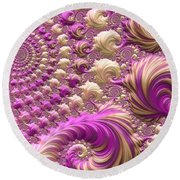 Round Beach Towel featuring the digital art Ice Cream Social by Susan Maxwell Schmidt