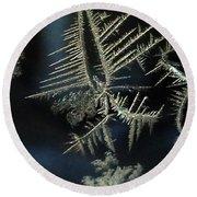 Ice Crystals Round Beach Towel