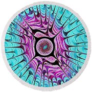 Ice Dragon Eye Round Beach Towel by Anastasiya Malakhova