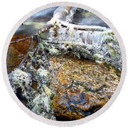 Ice Ornaments Round Beach Towel