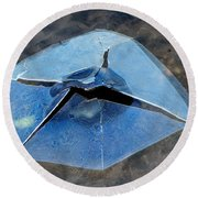 Round Beach Towel featuring the photograph Ice Penetration by Gary Slawsky