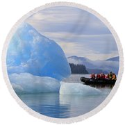 Iceberg Ahead Round Beach Towel