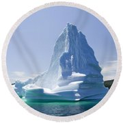 Round Beach Towel featuring the photograph Iceberg Canada by Liz Leyden