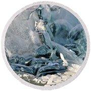 Iceberg Detail Round Beach Towel by Cathy Mahnke