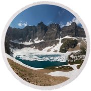 Iceberg Lake Round Beach Towel by Aaron Aldrich