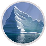 Iceberg Round Beach Towel by Liz Leyden