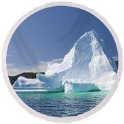 Iceberg Newfoundland Canada Round Beach Towel