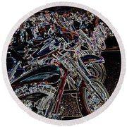 Iced Out Bikes Round Beach Towel