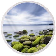 Iceland Tranquility 3 Round Beach Towel