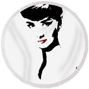 Icon Of Beauty Round Beach Towel