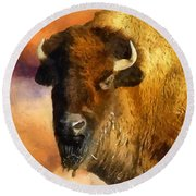 Icon Of The Plains Round Beach Towel by RC deWinter