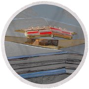 Round Beach Towel featuring the photograph Iconic Emblem by John Schneider