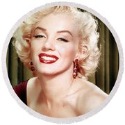 Iconic Marilyn Monroe Round Beach Towel