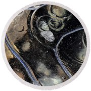 Icy Bubbles Round Beach Towel
