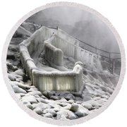 Icy Path Way Round Beach Towel