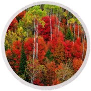 Idaho Autumn Round Beach Towel