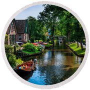 Idyllic Village 15. Venice Of The North Round Beach Towel
