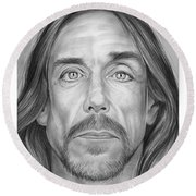 Iggy Pop Round Beach Towel