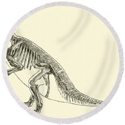 Iguanodon Round Beach Towel by English School