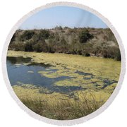 Ile De Re - Marshes Round Beach Towel