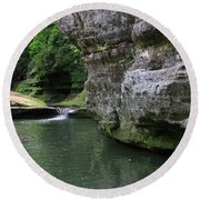 Illinois Canyon May 2014 Round Beach Towel