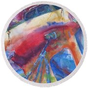 Ilwaco Parti-color Round Beach Towel