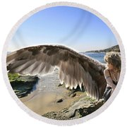 I'm A Witness To Your Life Round Beach Towel