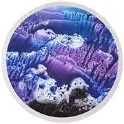 Round Beach Towel featuring the painting Imagination 3 by Vesna Martinjak
