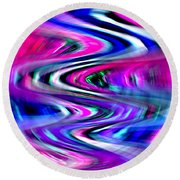 Round Beach Towel featuring the photograph Imagination Curves by Kellice Swaggerty