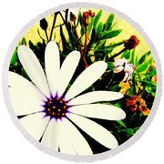 Round Beach Towel featuring the photograph Imagination Growing by Faith Williams