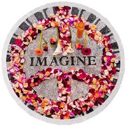 Imagine Round Beach Towel by Gary Slawsky