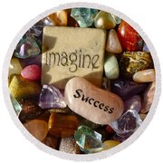 Imagine Success Round Beach Towel