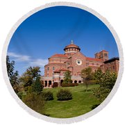 Immaculate Conception Monastery Round Beach Towel