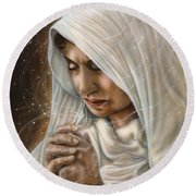 Immaculate Conception - Mothers Joy Round Beach Towel