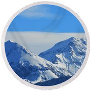 Immaculate Round Beach Towel by Felicia Tica