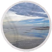 Impending Storm Front Round Beach Towel