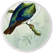 Imperial Fruit Pigeon Round Beach Towel