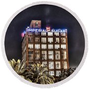 Imperial Sugar Mill Round Beach Towel