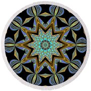 Impression Round Beach Towel by Oksana Semenchenko