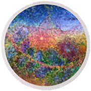 Impressionist Dreams 1 Round Beach Towel by Casey Kotas