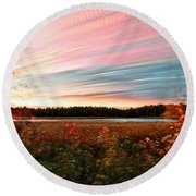 Impressionistic Autumn Round Beach Towel