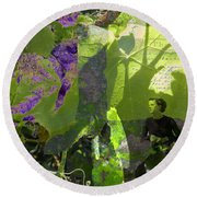Round Beach Towel featuring the digital art In A Dream by Cathy Anderson