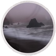 In A Fog Round Beach Towel by Suzanne Luft