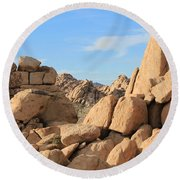 In Between The Rocks Round Beach Towel