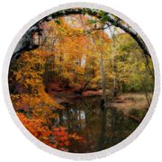 In Dreams Of Autumn Round Beach Towel