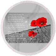 In Flanders Fields Round Beach Towel by Gill Billington