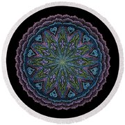 Round Beach Towel featuring the painting In Full Faith by Keiko Katsuta